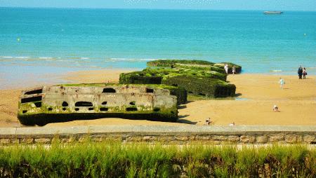 resti-del-porto-di-arromanches-spiagge-del-d-day-normandia